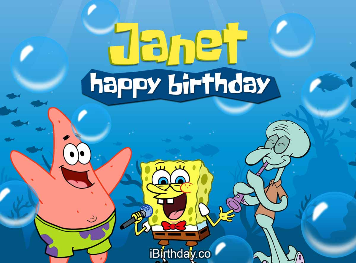 Janet Spongebob Birthday Meme