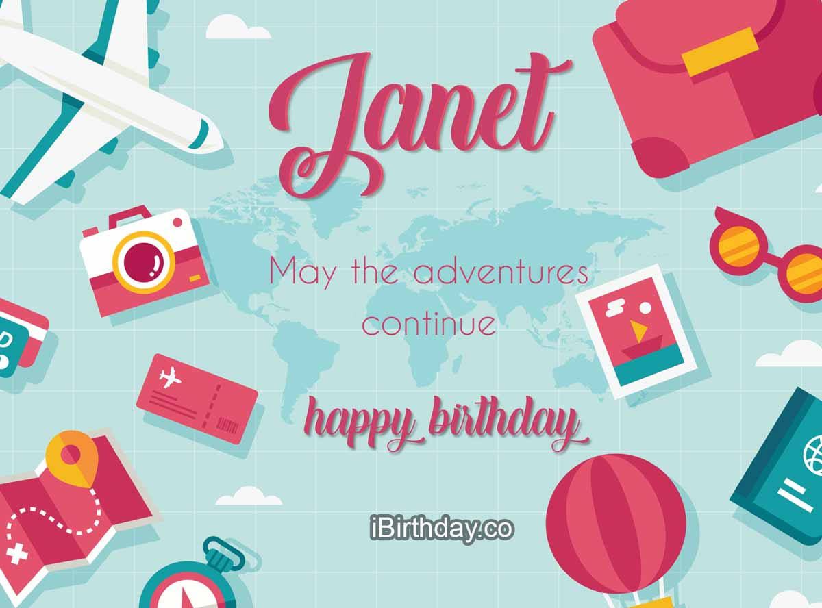 Janet Travel Birthday Meme