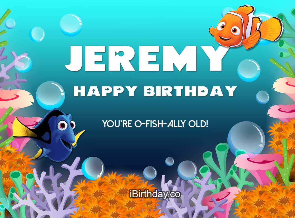 Jeremy Nemo Birthday Wish