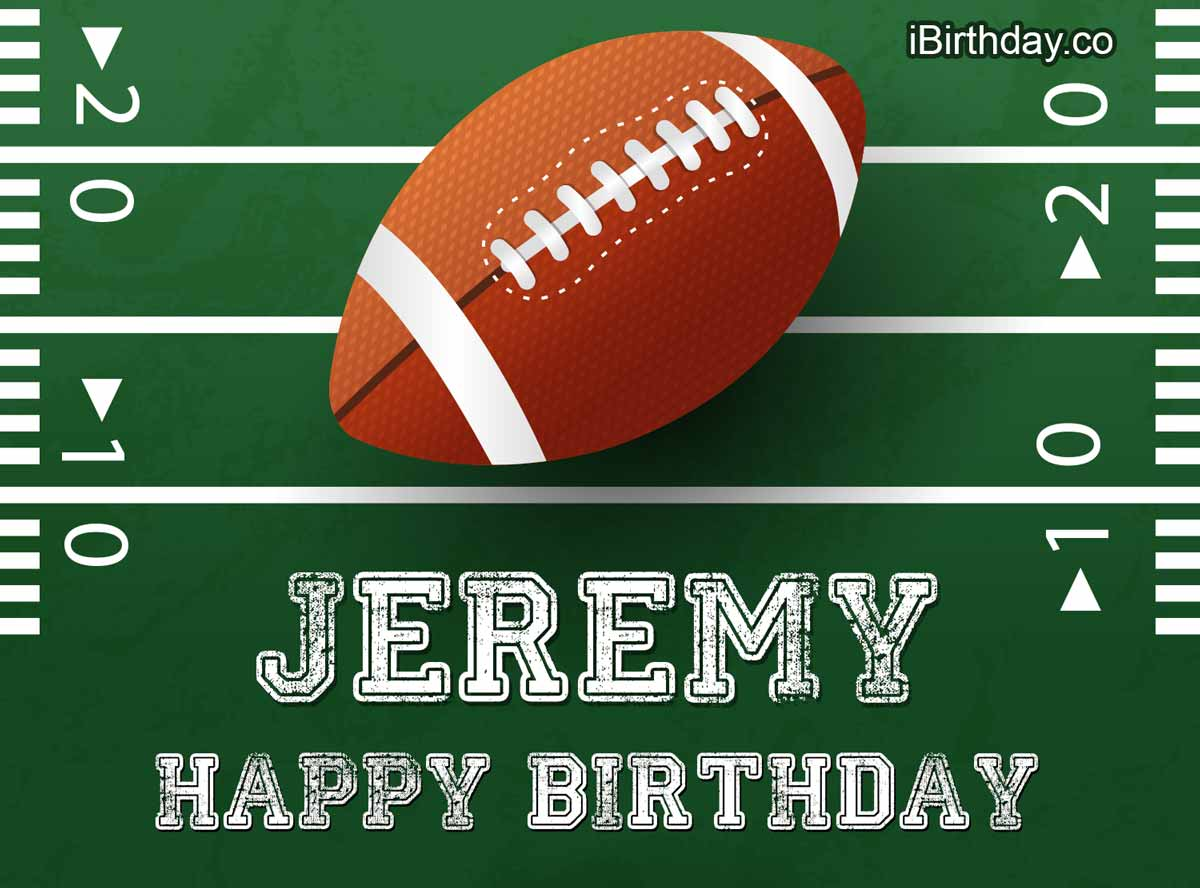 Jeremy Rugby Happy Birthday