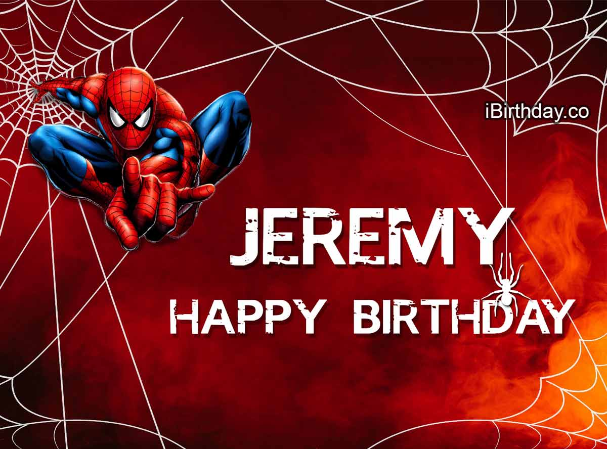 Jeremy Spider-Man Birthday Meme