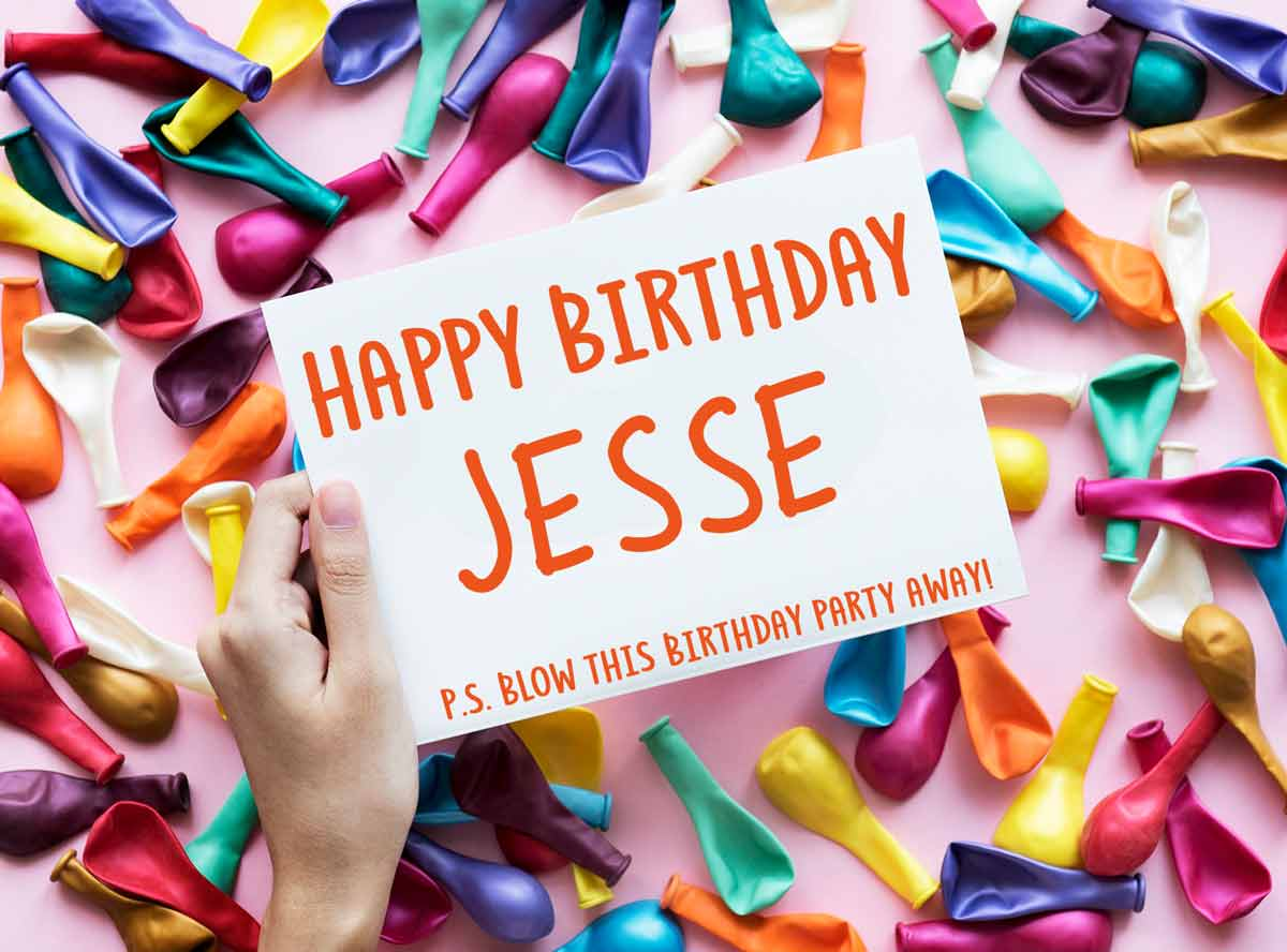 Jesse Happy Birthday Balloons Meme