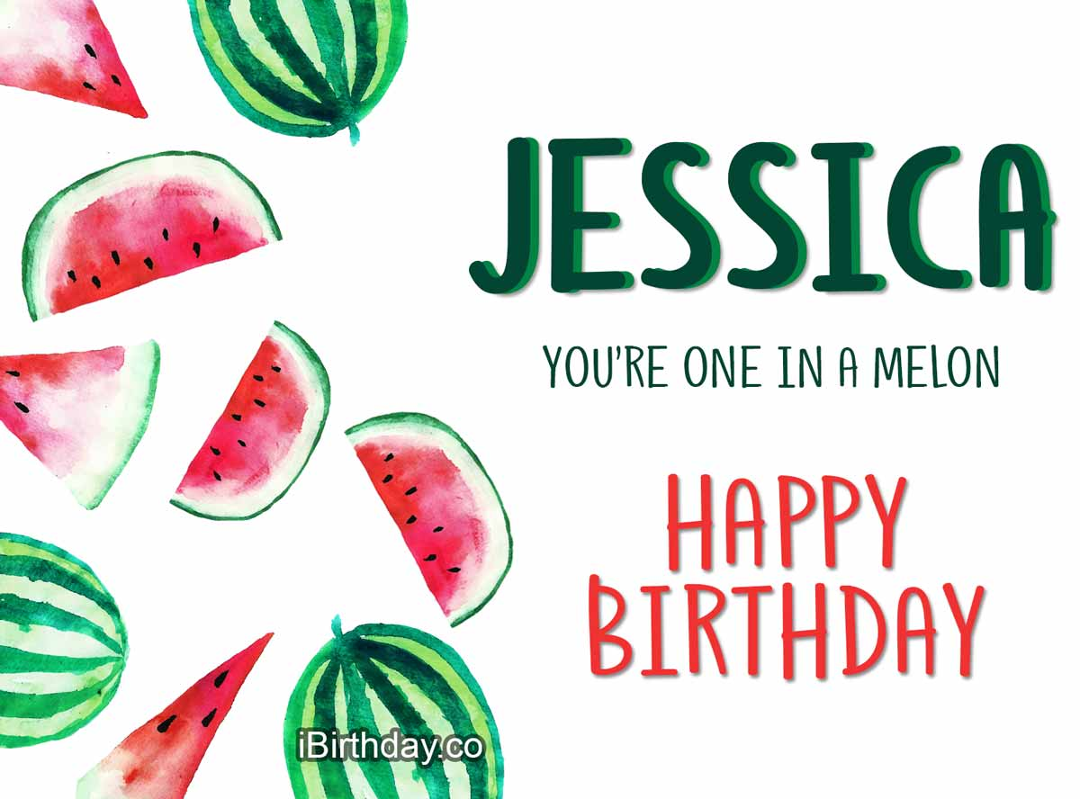 Jessica Melon Birthday Wish