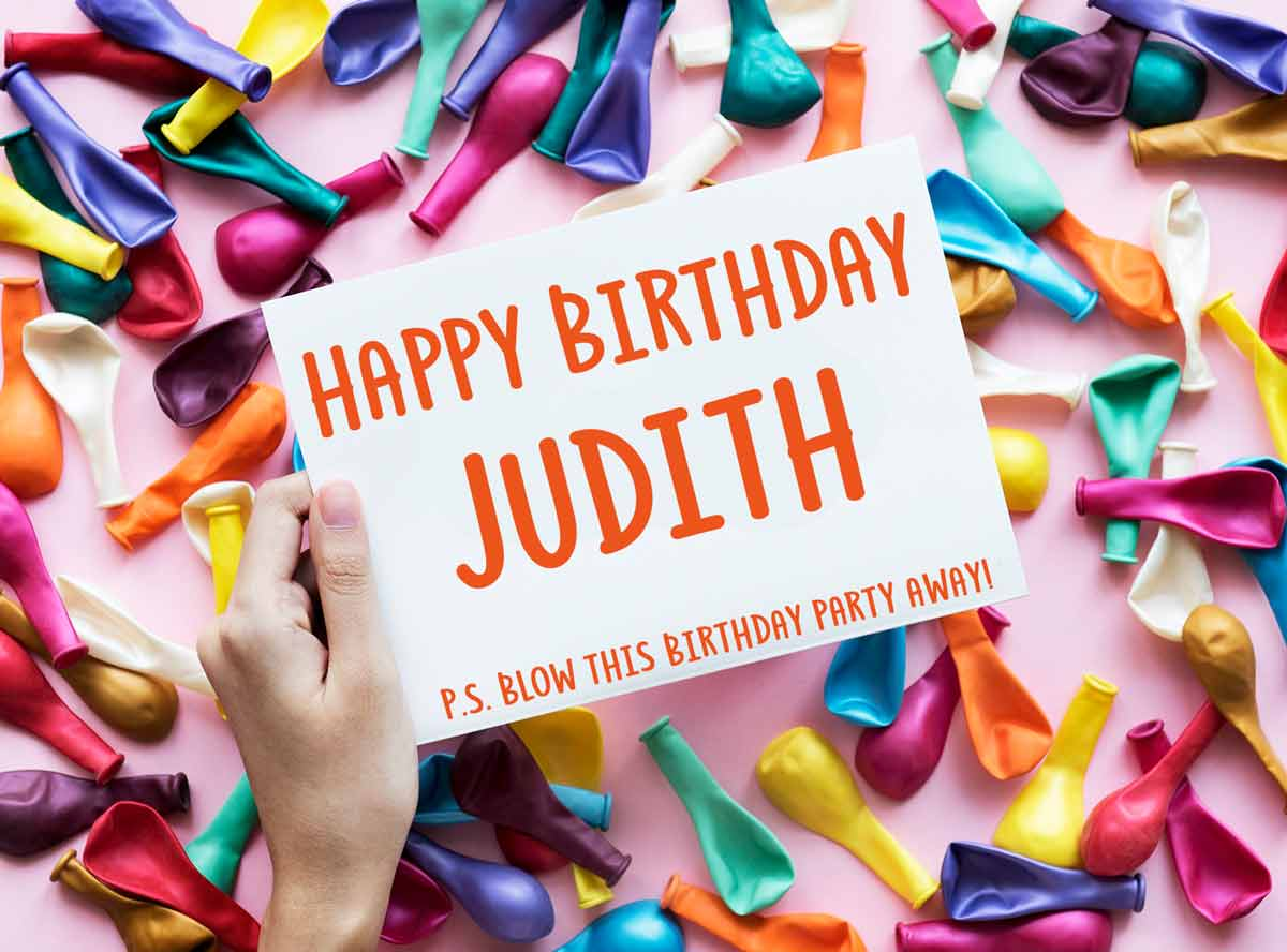 Judith Balloons Happy Birthday