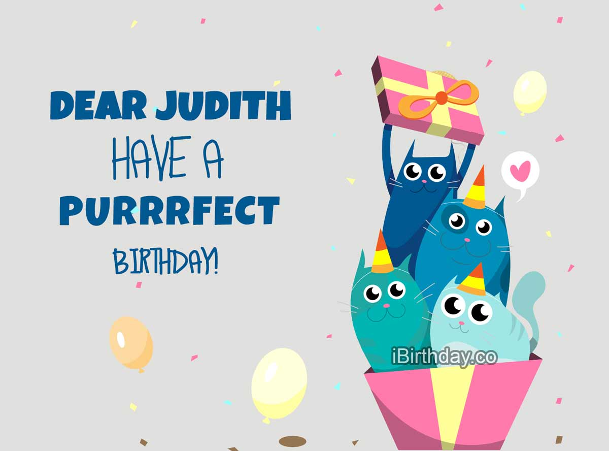 Judith Cats Birthday Wish