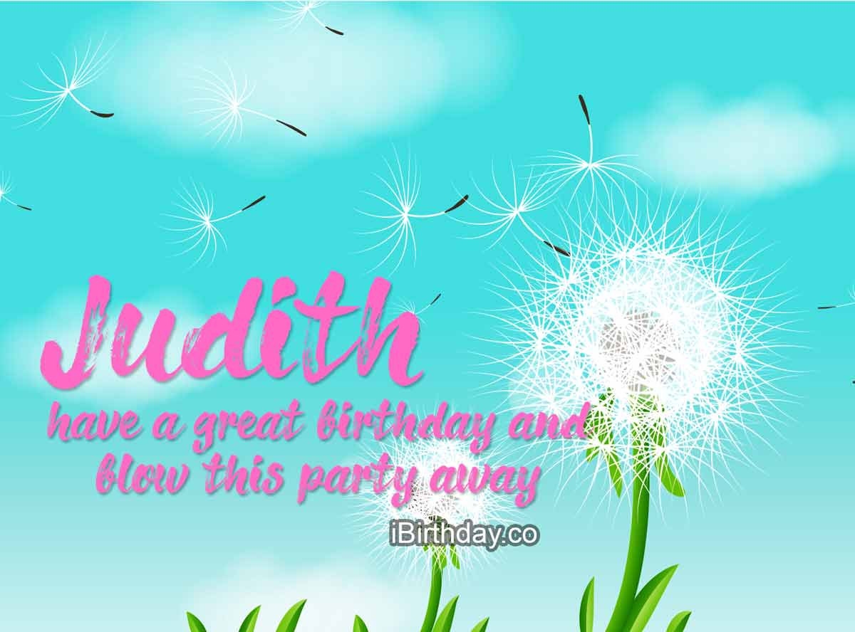 Judith Dandelion Birthday Wish