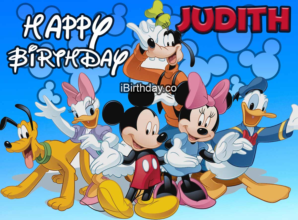 Judith Disney Birthday Meme