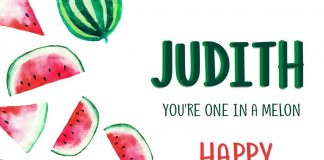 Judith Melon Happy Birthday