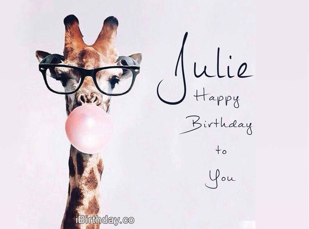 Julie Giraffe Birthday Meme
