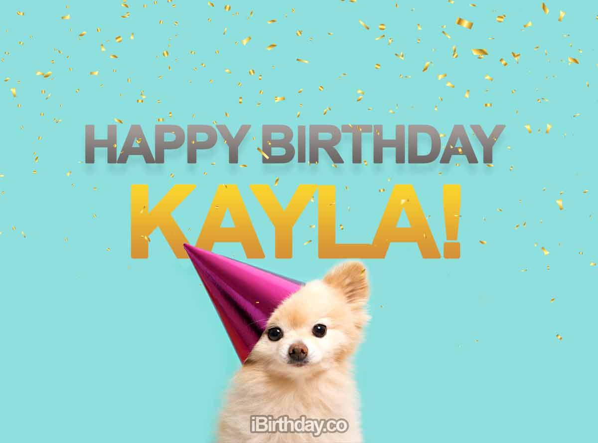 Kayla Happy Birthday Dog