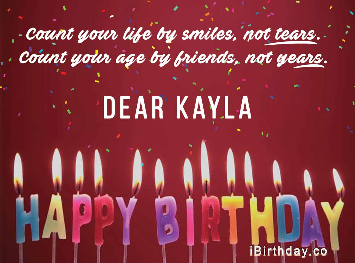 Kayla Happy Birthday