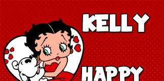 Kelly Betty Boop Birthday Meme