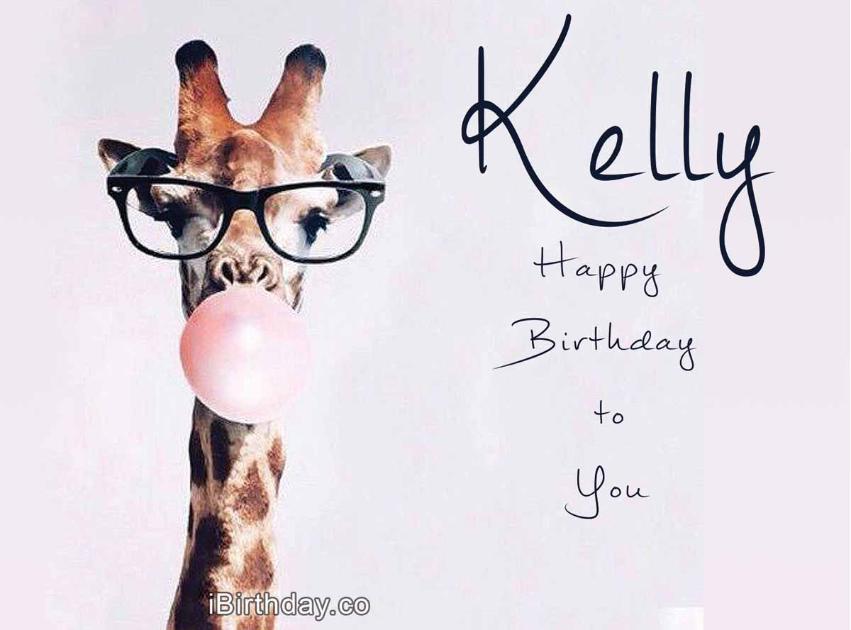 Kelly Giraffe Birthday Meme