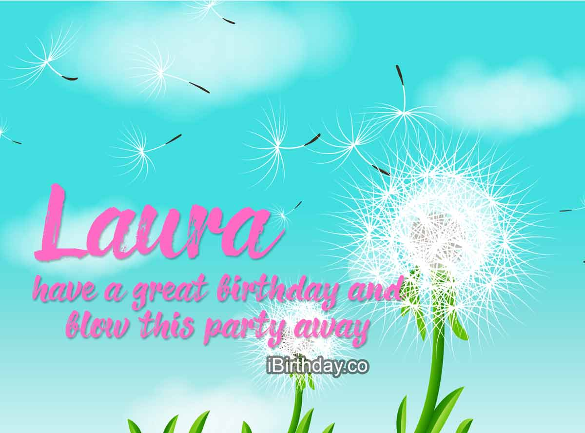 Laura Dandelion Birthday Wish