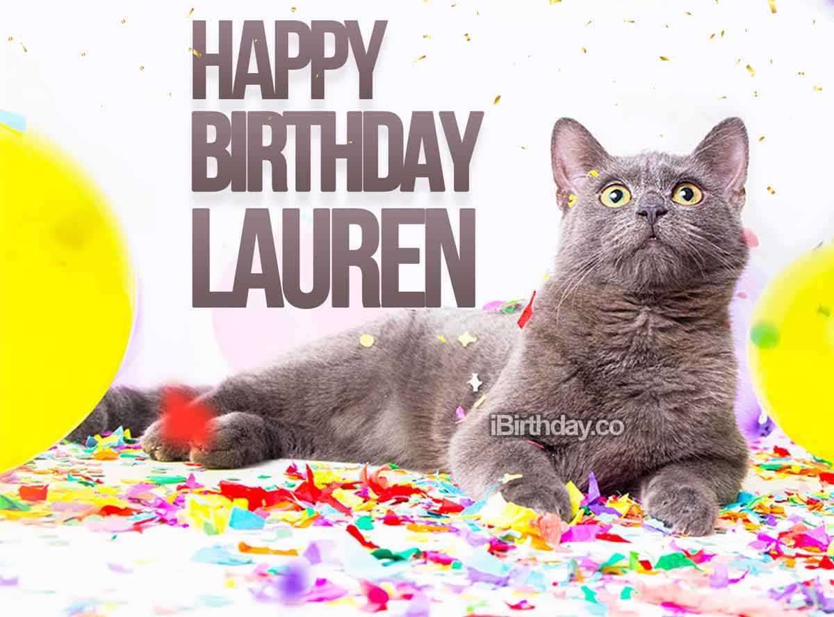 Lauren Cat Happy Birthday