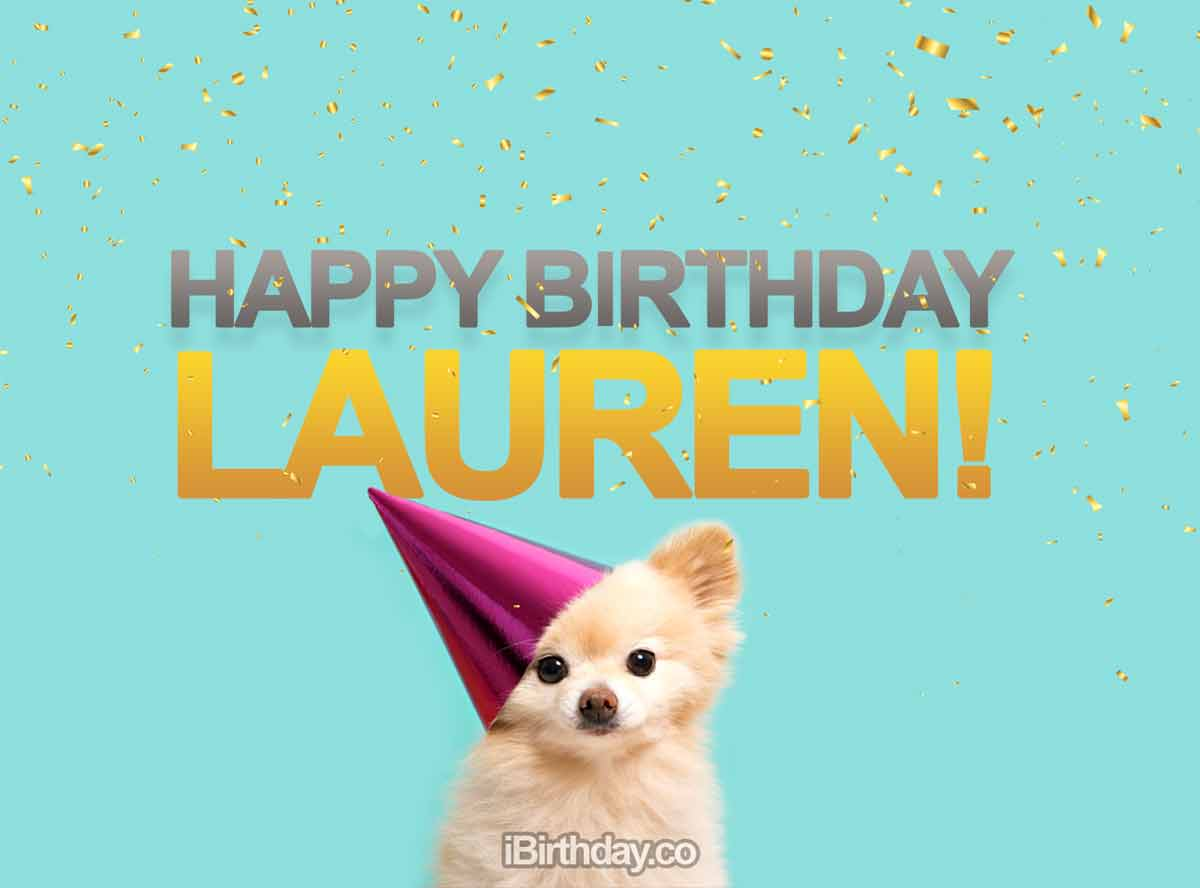 Lauren Dog Birthday Meme