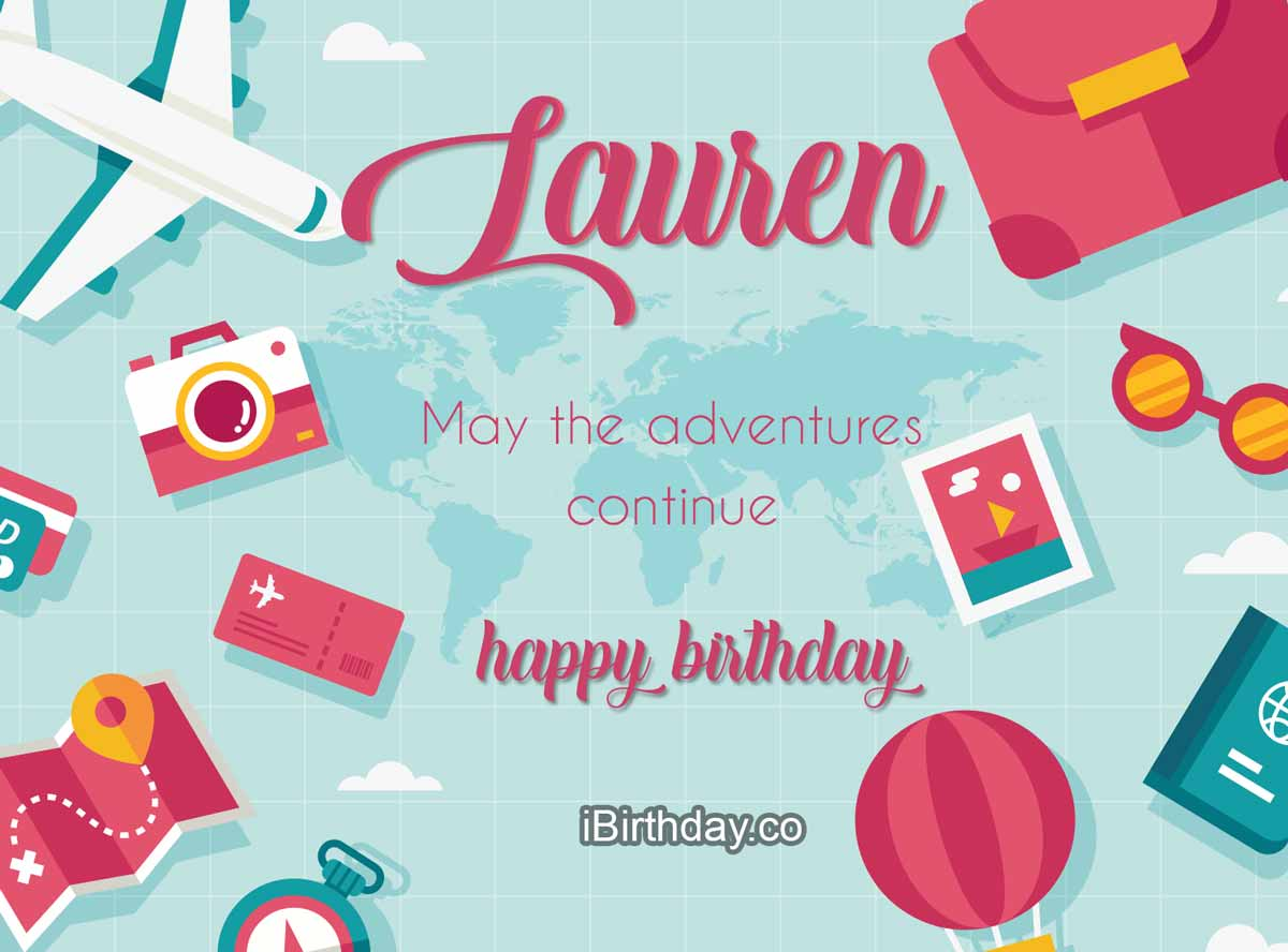 Lauren Travel Birthday Meme