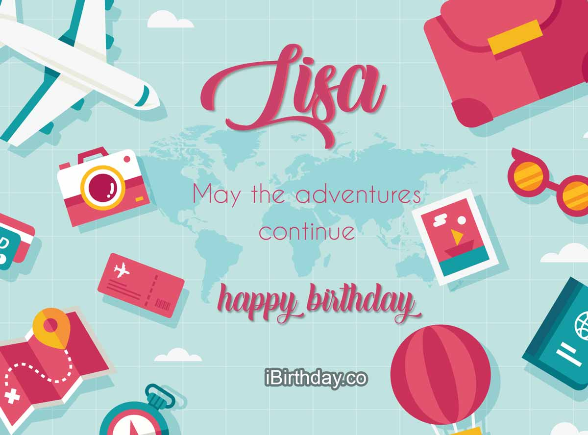 Lisa Travel Birthday Wish