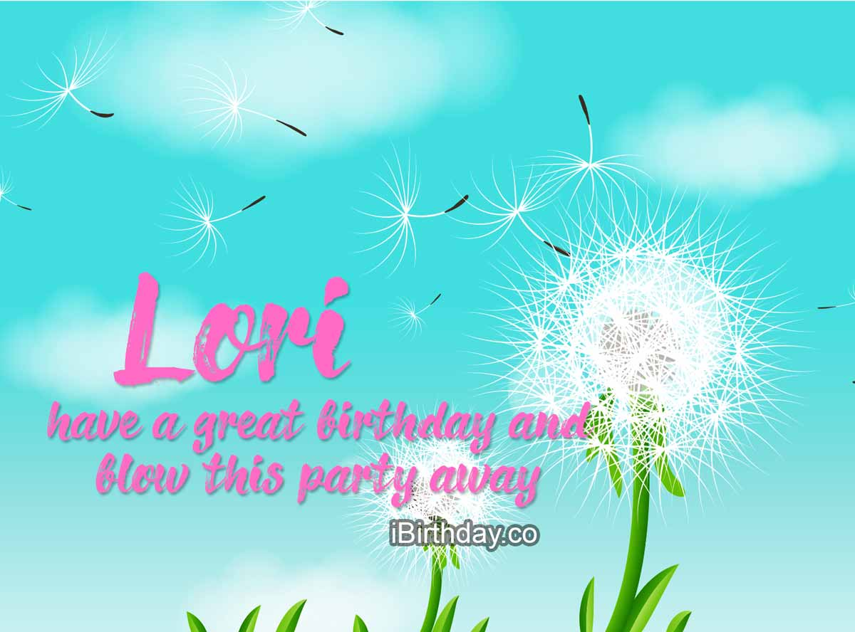 Lori Dandelion Birthday Wish
