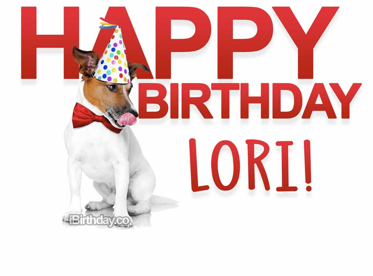 Lori Dog Happy Birthday
