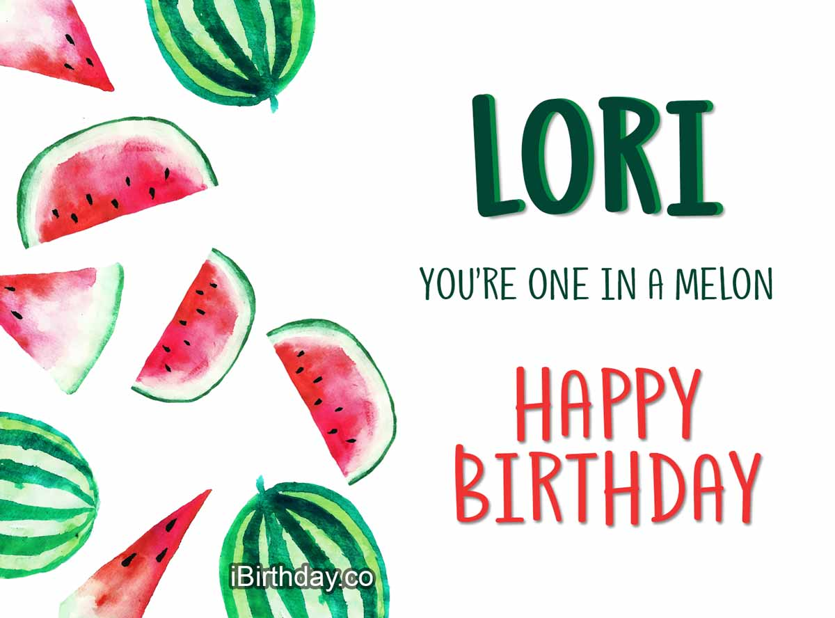 Lori Melon Birthday Meme
