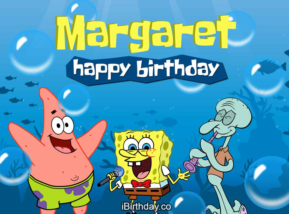 Margaret Spongebob Birthday Meme