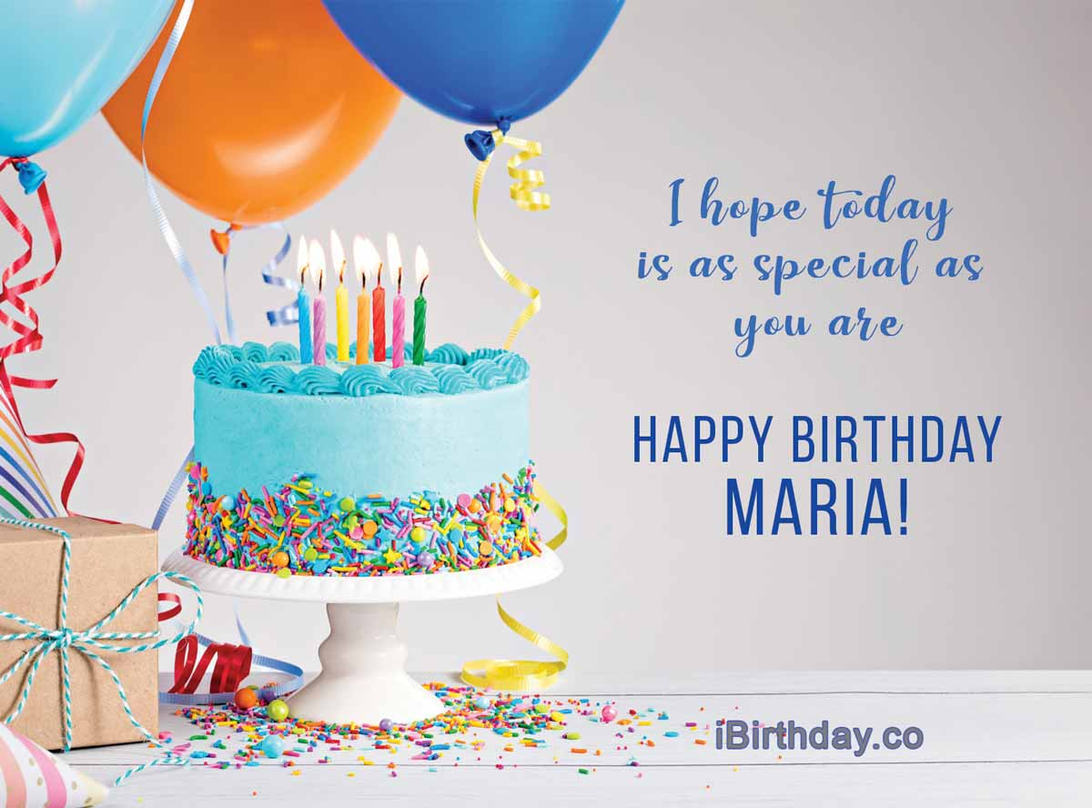 Maria Birthday Cake Wish