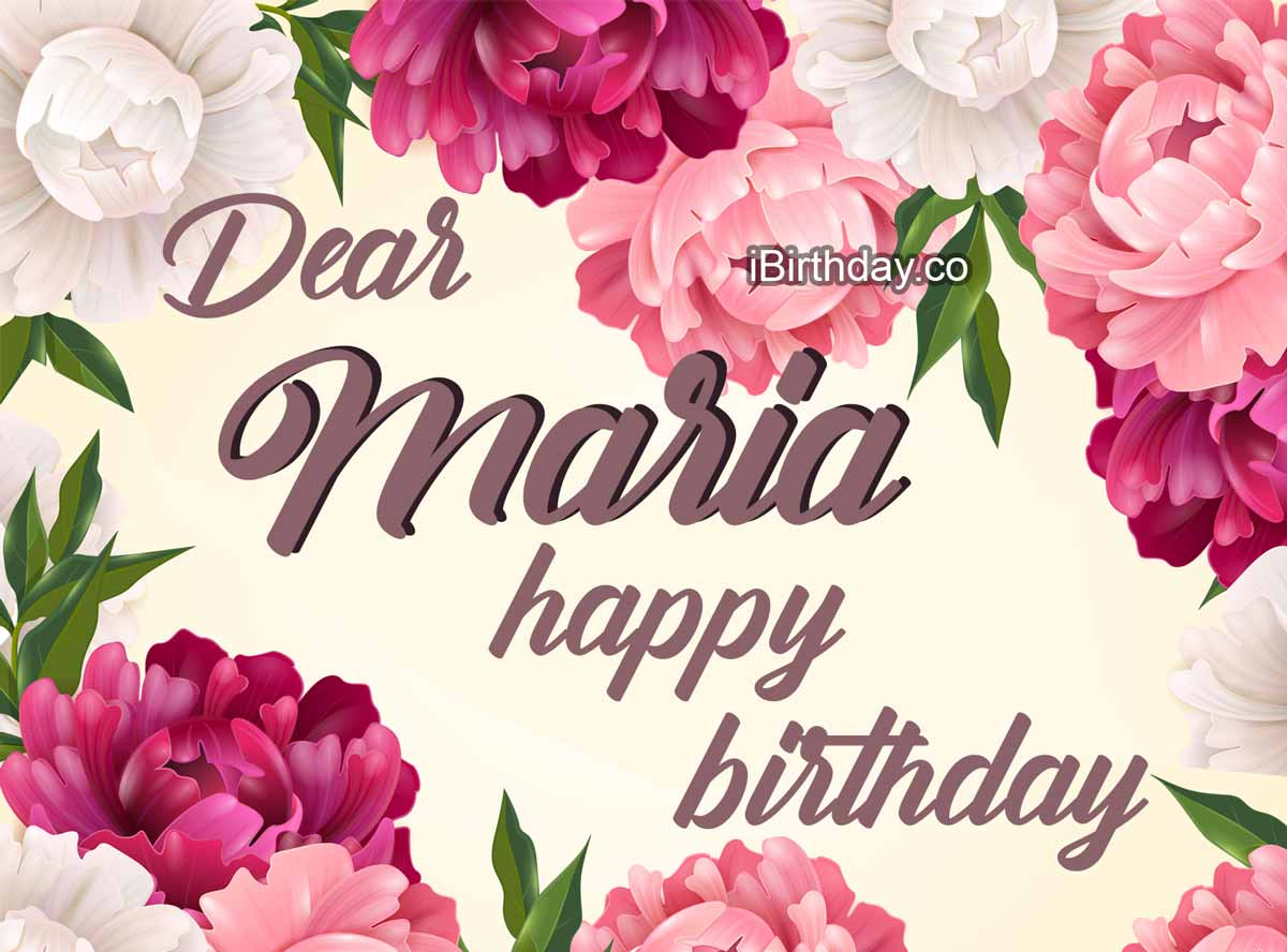 Maria Flowers Birthday Meme