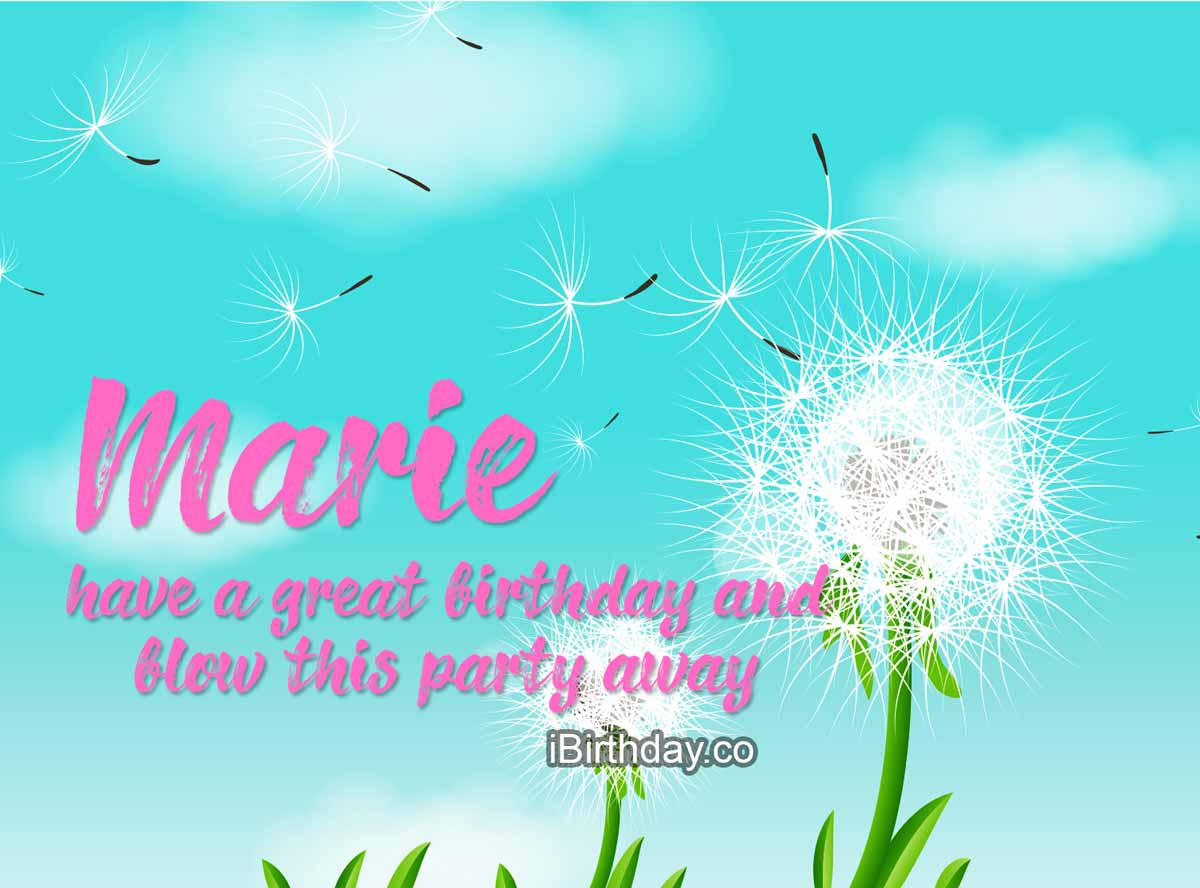 Marie Dandelion Birthday Wish