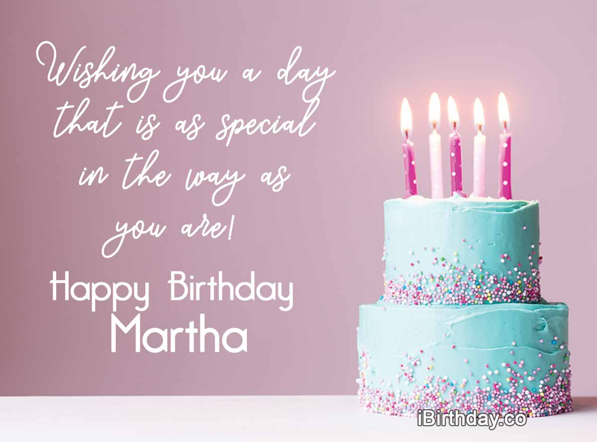 Martha Cake Birthday Wish