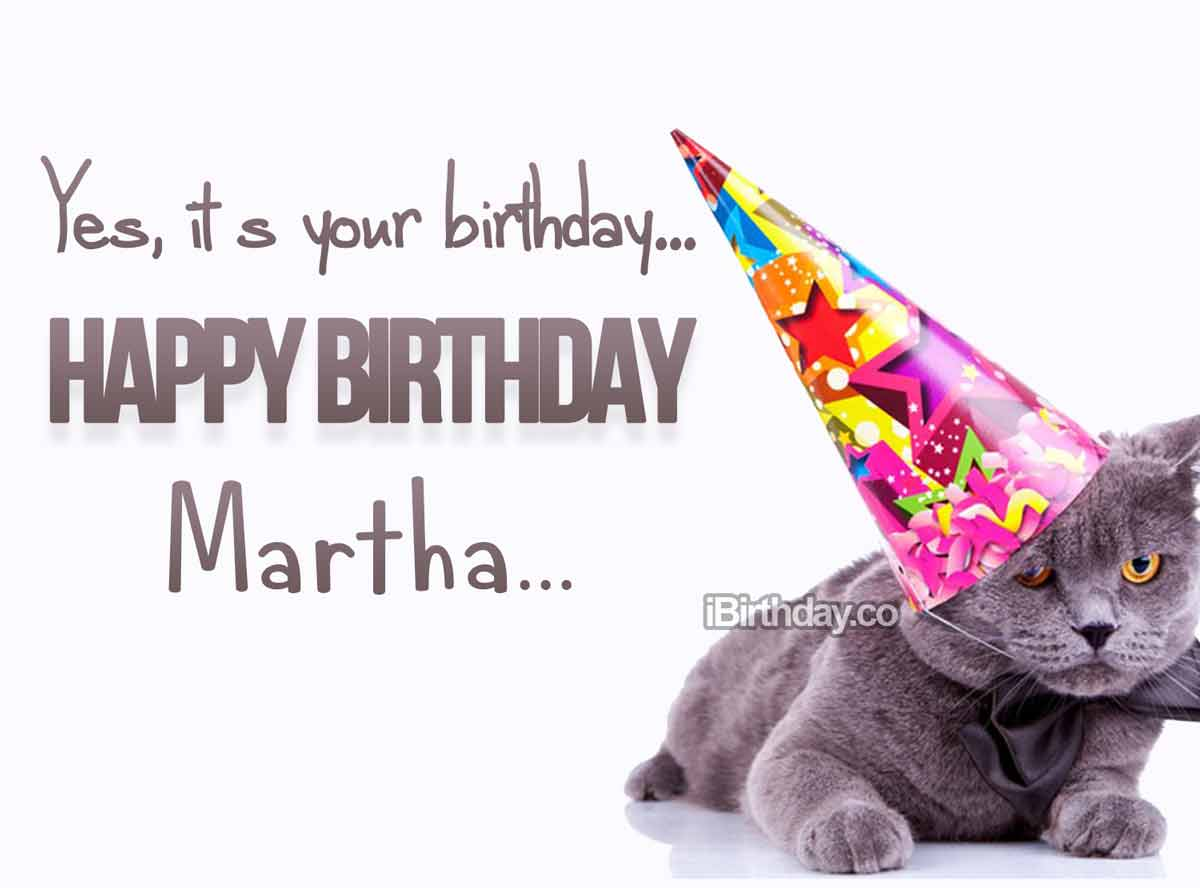 Martha Crazy Cat Birthday Meme