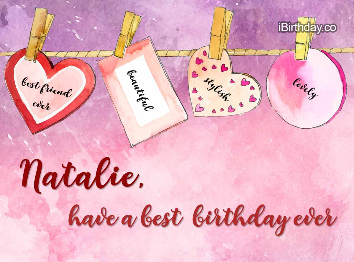Natalie Heart Birthday Wish