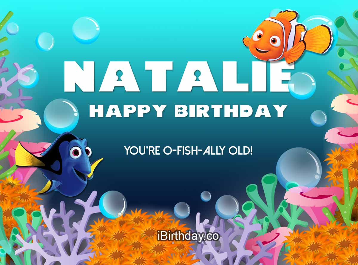 Natalie Nemo Happy Birthday