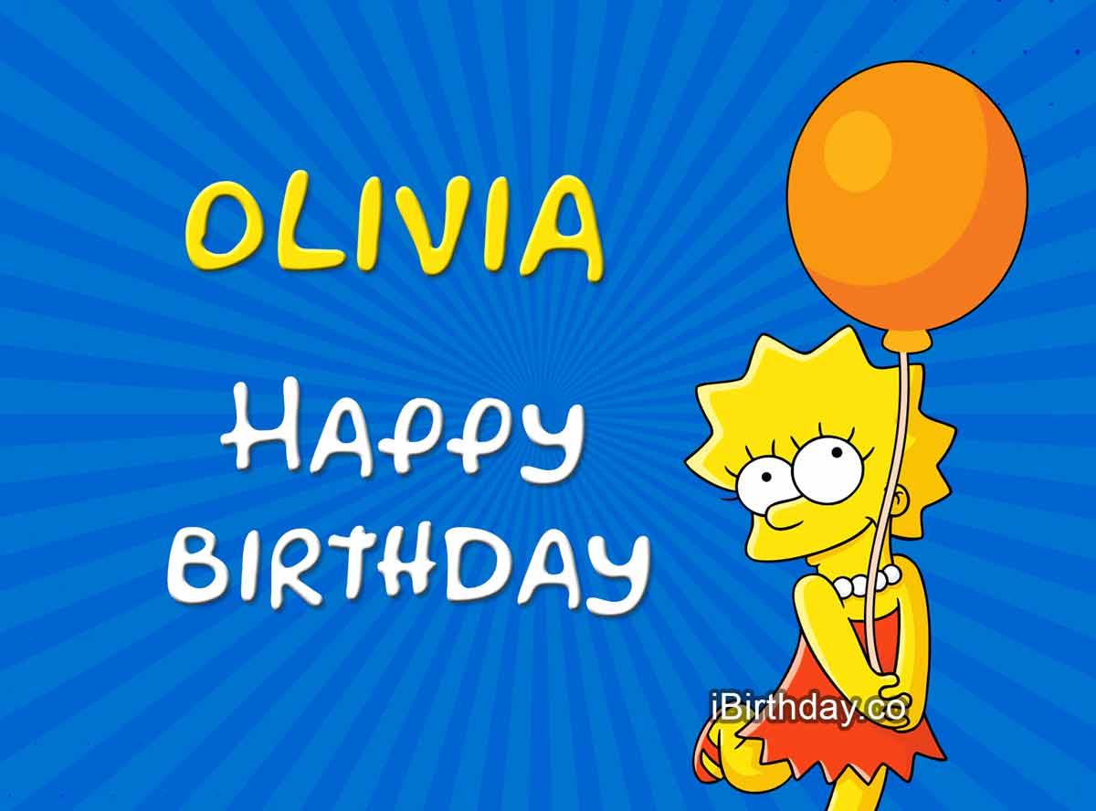 Olivia Lisa Simpson Birthday Meme
