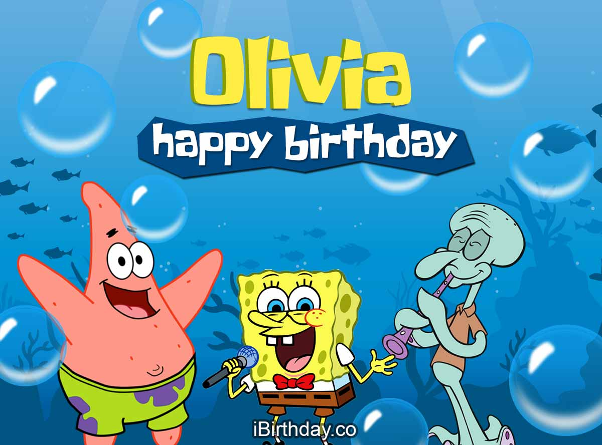 Olivia SpongeBob Birthday Meme