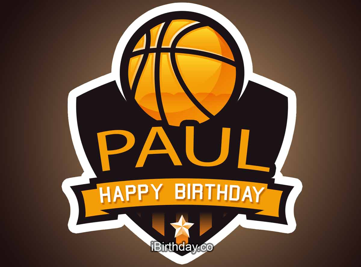 Paul Basketball Birthday Meme