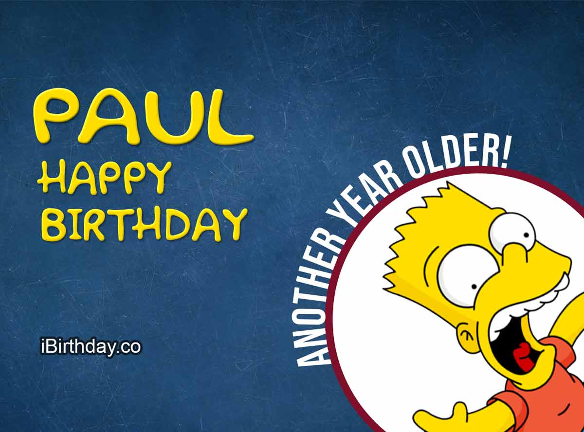 Paul Happy Birthday Bart Simpson