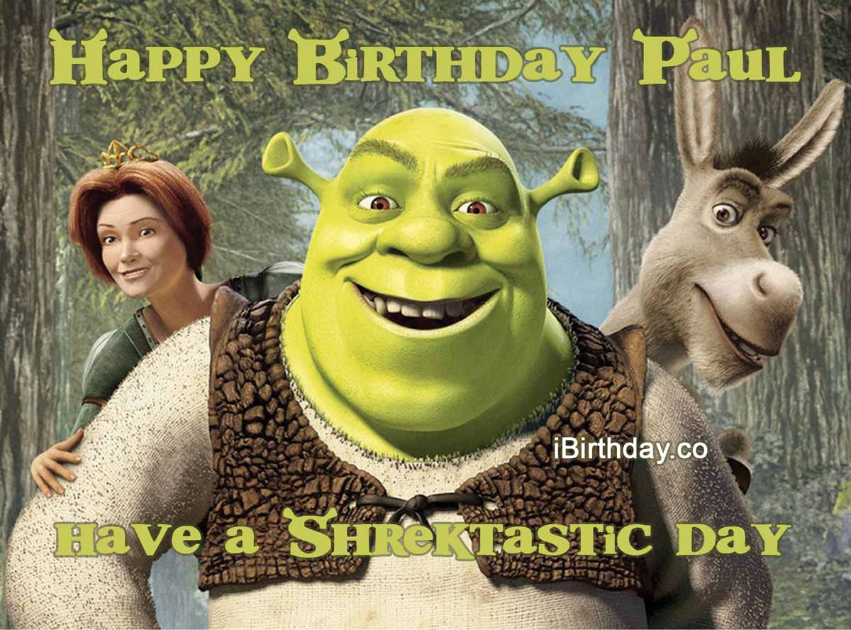 Paul Shrek Birthday Meme