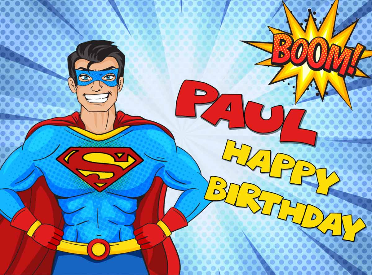 Paul Superman Comics Birthday Meme