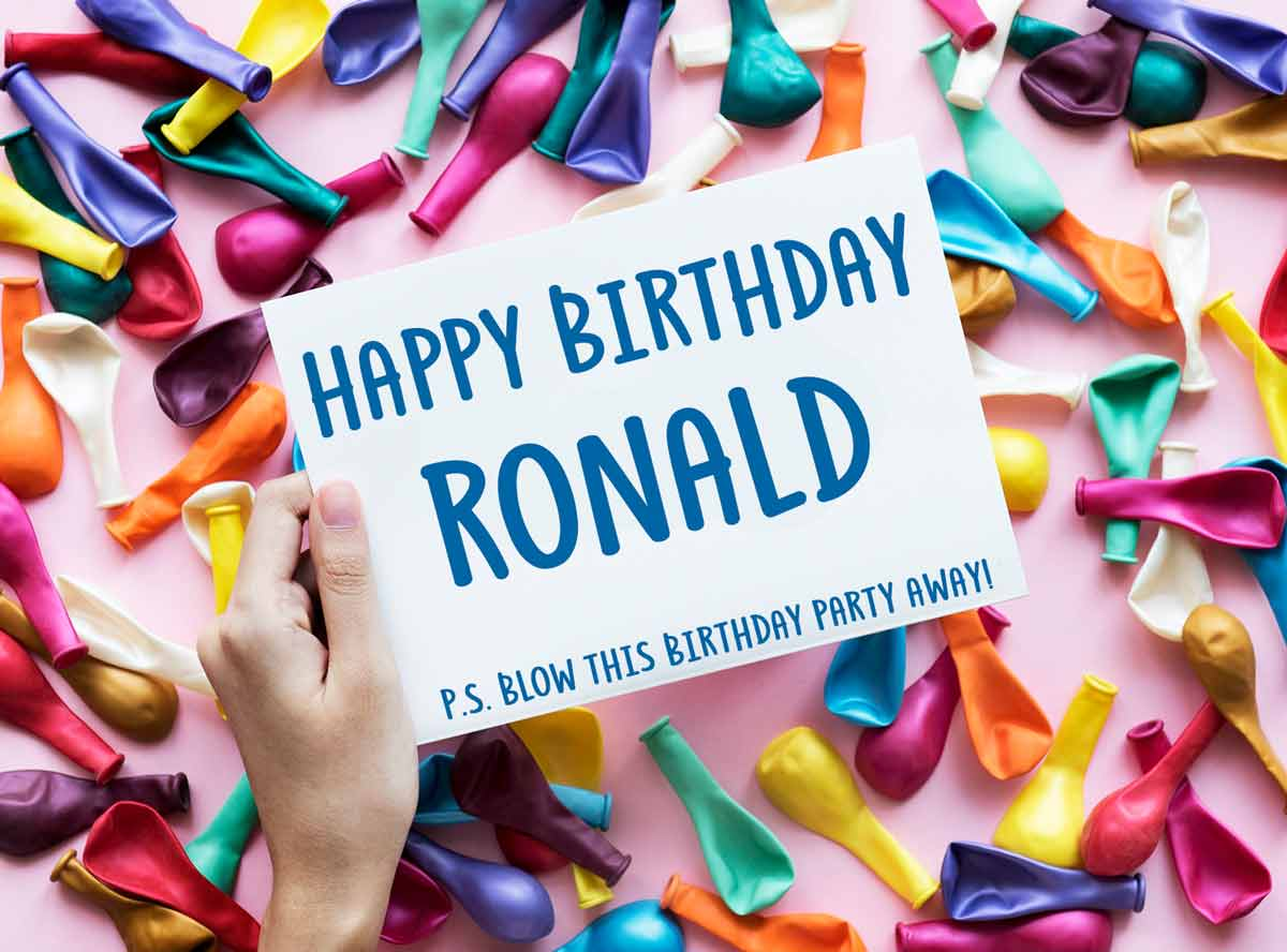 Ronald Balloons Birthday Wish