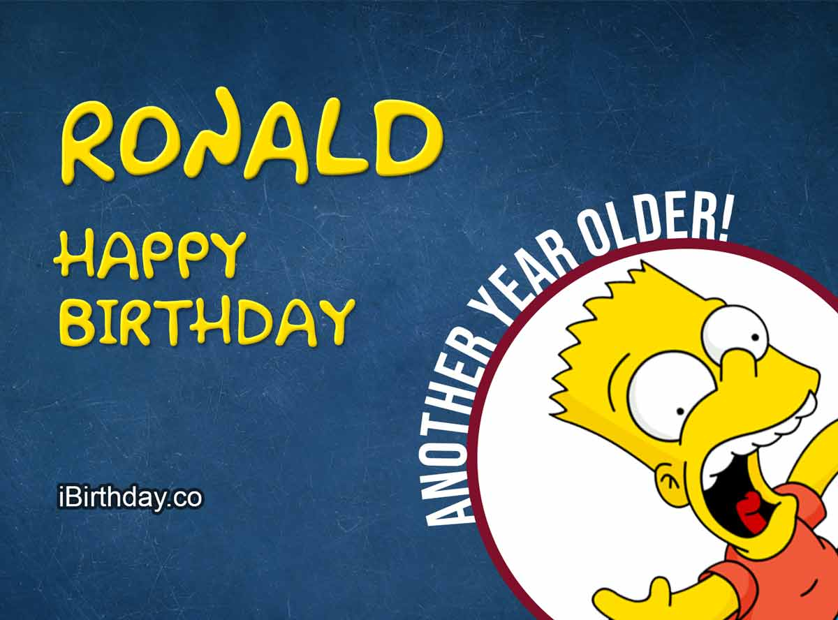 Ronald Bart Simpson Birthday Meme