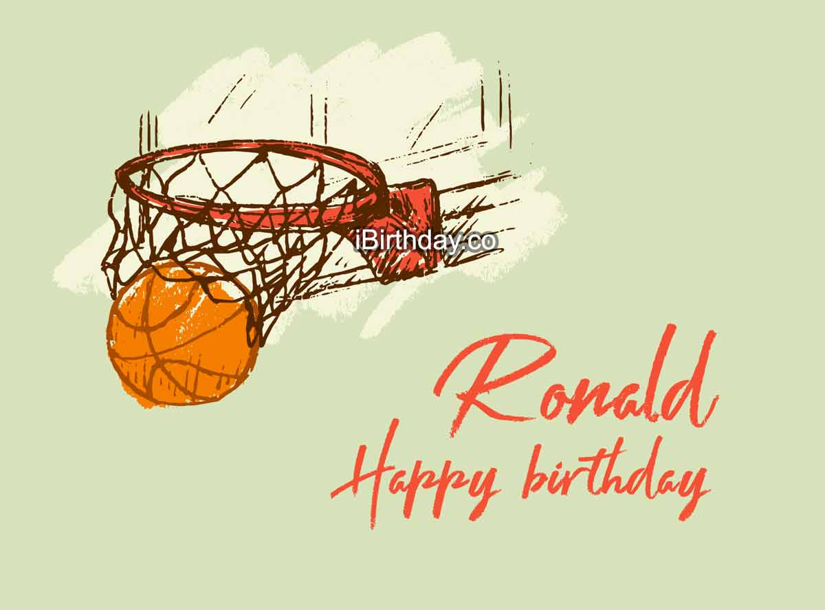 Ronald Basketball Happy Birthday