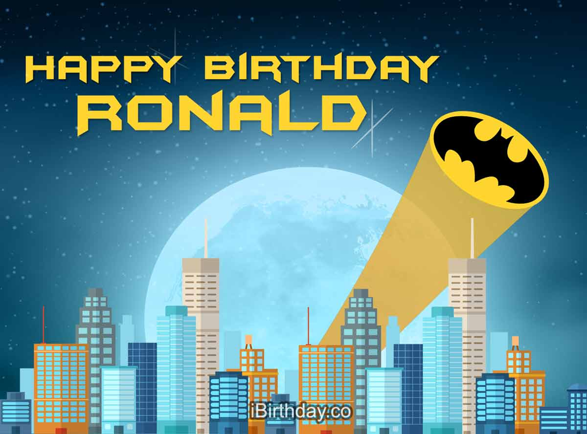 Ronald Batman Happy Birthday