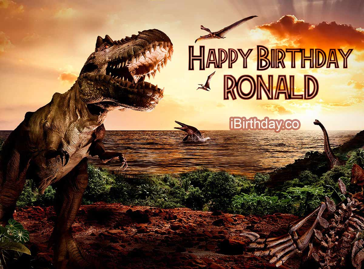 Ronald Dinosaur Birthday Meme