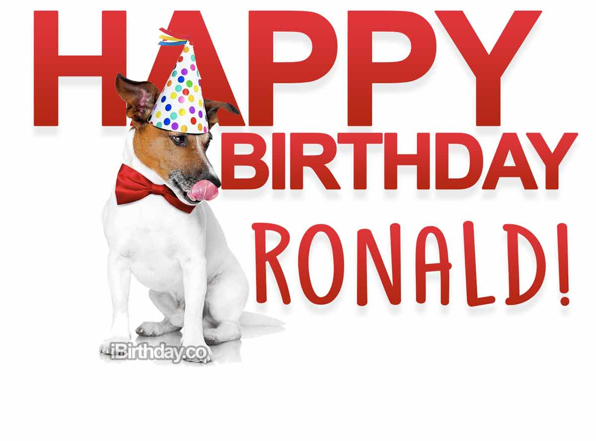 Ronald Dog Birthday Meme