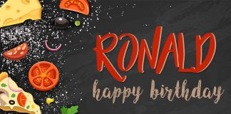 Ronald Food Birthday Meme