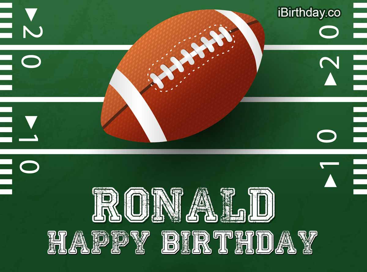 Ronald Rugby Birthday Meme