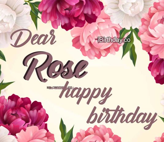 Rose Flowers Birthday Meme