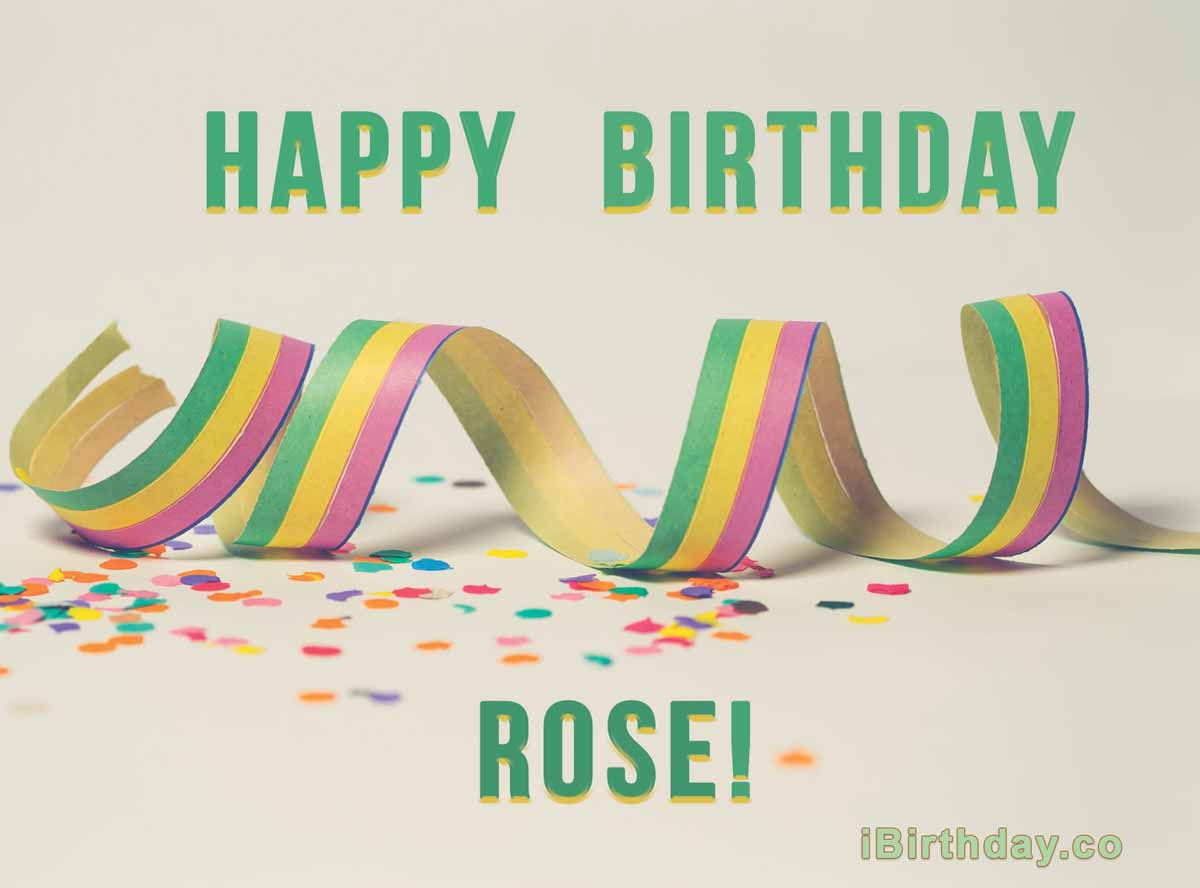 Rose Happy Birthday