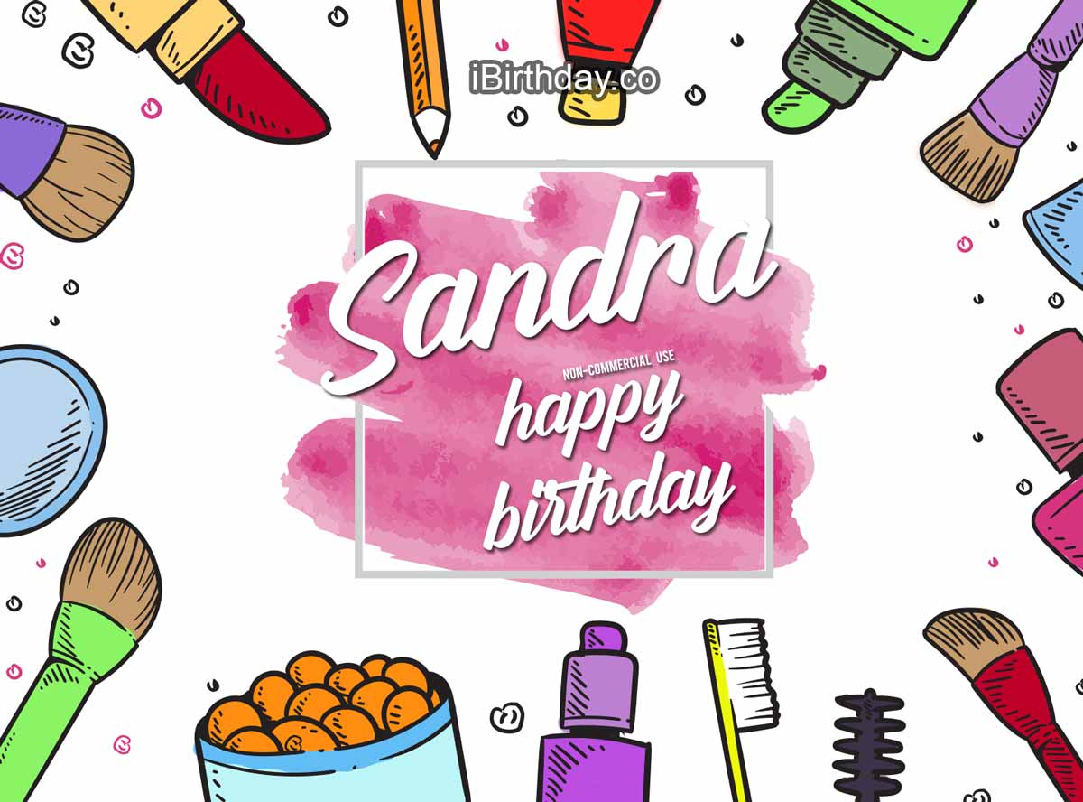 Sandra Makeup Birthday Wish
